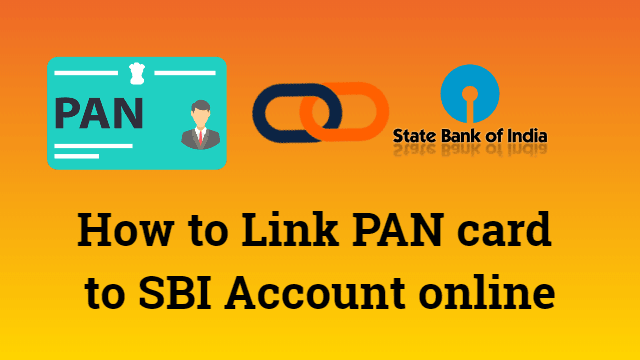 How to Link PAN card to SBI Account online 1