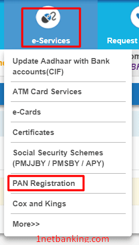 link pan card to sbi account online