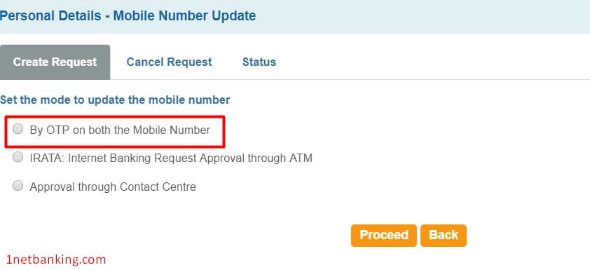 select verification method as otp on both mobile number