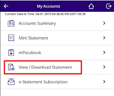 How to download SBI bank statement on mobile in PDF format 2