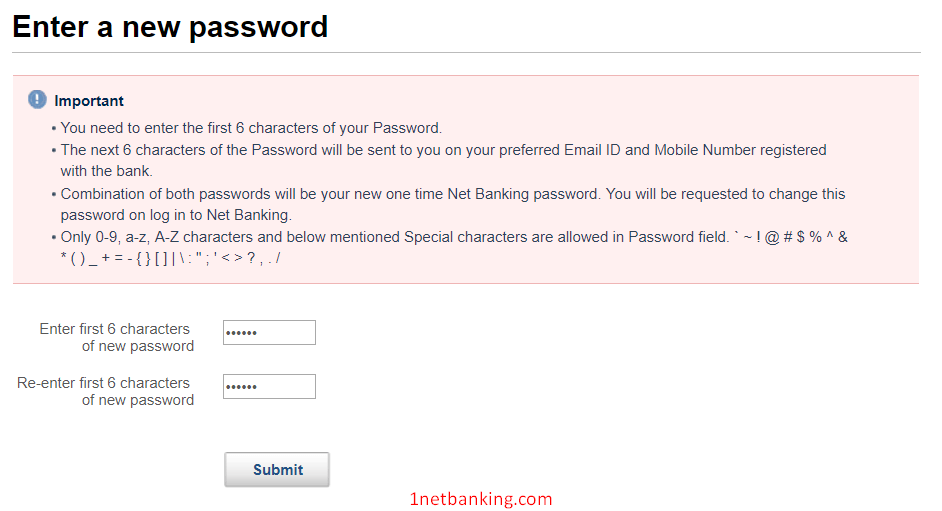 Kotak net banking password reset