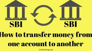 How to transfer money from one account to another in SBI