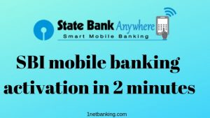 SBI mobile banking activation