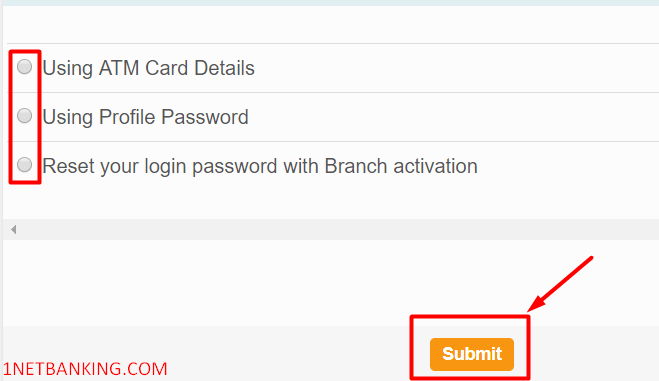 How to reset SBI Netbanking password in 2 Minutes 3