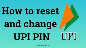 forgot upi pin