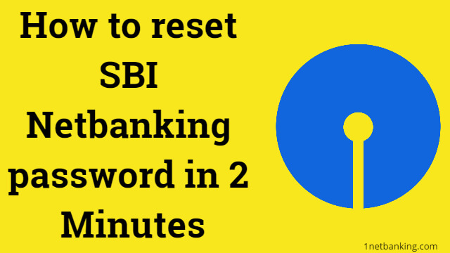 reset SBI Netbanking password