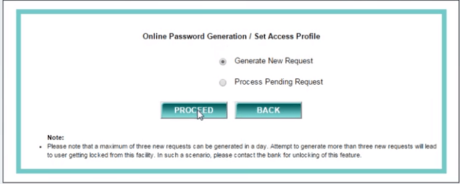 How to Generate online password For IDBI Net Banking 3