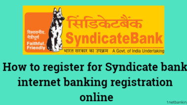 Syndicate bank internet banking registration online