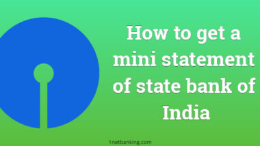mini statement of state bank of India