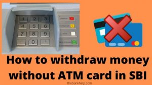 How to withdraw money without ATM card in SBI : YONO Cardless Cash
