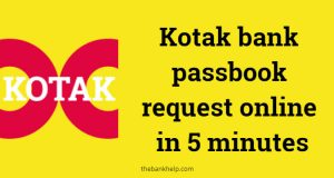 Kotak bank passbook request online