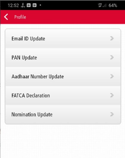 click on aadhar number update