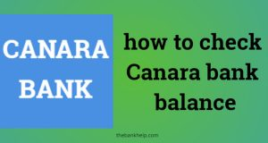 how to check Canara bank balance