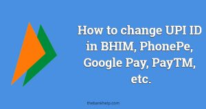 How to change UPI ID