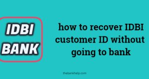 forgot idbi customer id