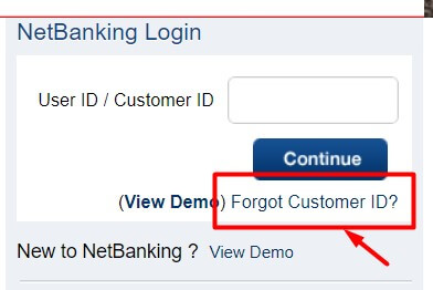 click on forgot user id option
