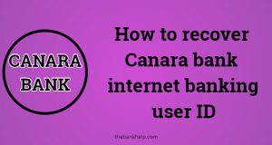 forgot canara bank user id