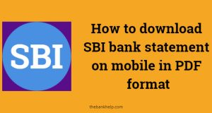 SBI bank statement on mobile in PDF format