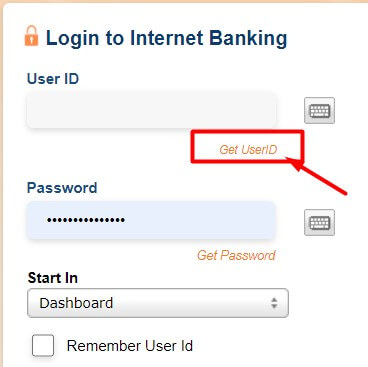 click on get user id if you forgot icici user id