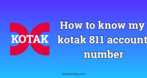 How to know my kotak 811 account number