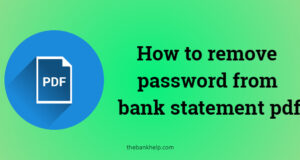 remove password from bank statement pdf