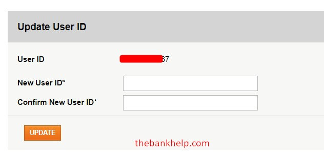 update new user id in icici net banking