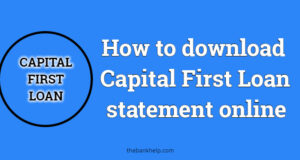 How to download Capital First Loan statement online