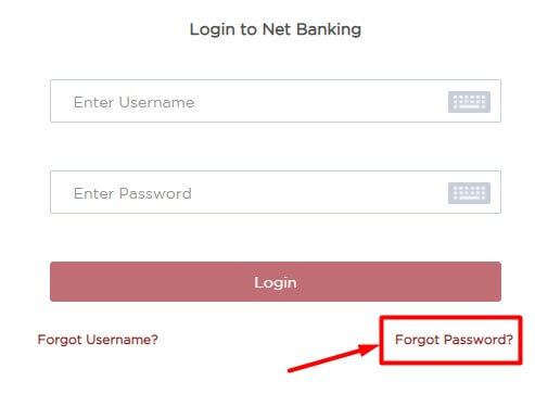 click on forgot password in idfc internet banking