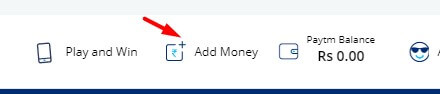 click on add money option in paytm