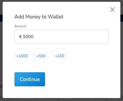enter amount you want to add in mobikwik