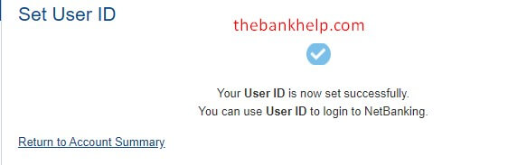 user id set successfully