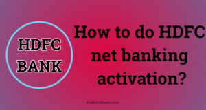 HDFC net banking activation