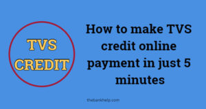 How to make TVS credit online payment